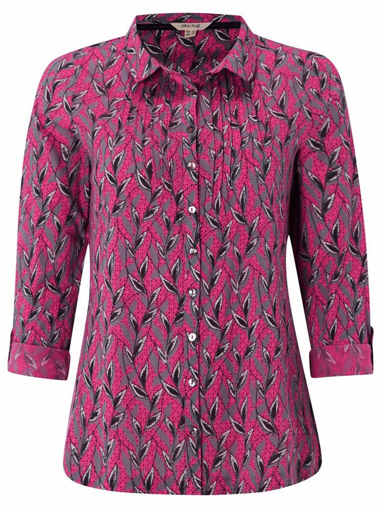 70bae2e63ac WOMENS NEW WHITE STUFF ALEXA Vine Print Jersey Shirt TOP BLOUSE TUNIC SIZE  8 10