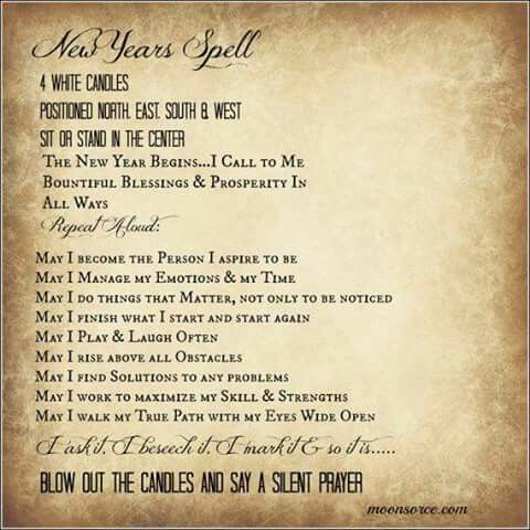 New Year Spell/ Farewell 2016. Thank you for your Blessings and new ...