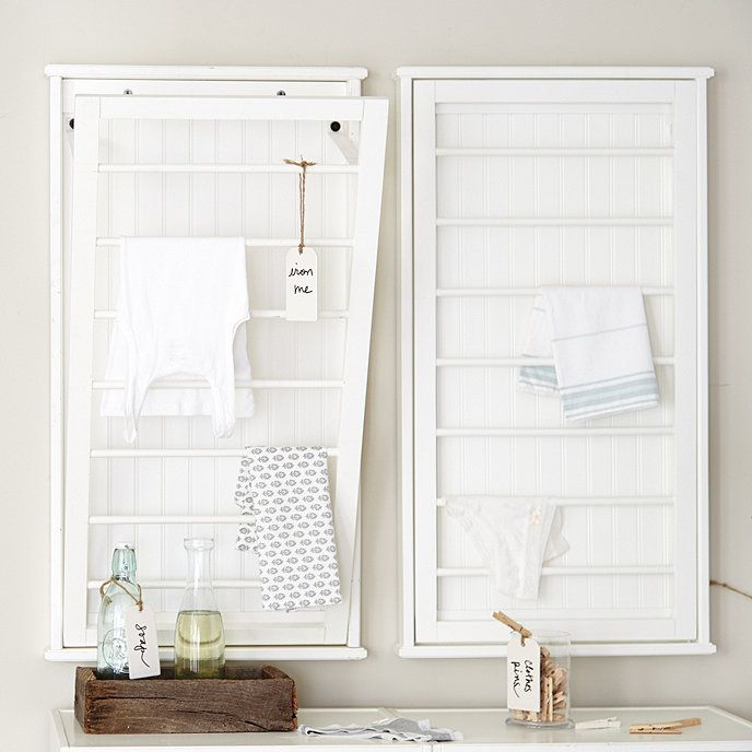 Beadboard Drying Rack Ballard Designs Room Storage Diy