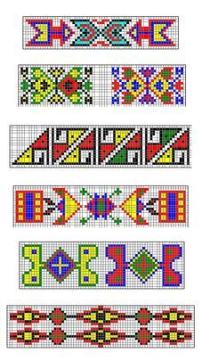 Sioux Indian Beadwork Patterns If You Want A Page Containing Copies Of These Strips Click Here Perlenweberei Webmuster Perlenstickerei
