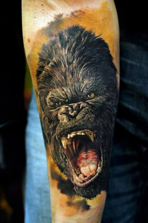 King Kong Tattoo By Domantas Parvainis Lanitabri Tattoos