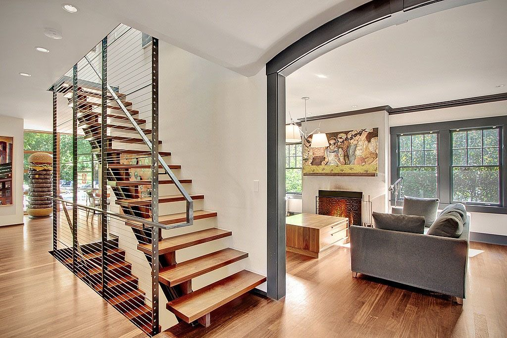 Modern house with whimsical artworks seattle washington for Simple house interior design ideas