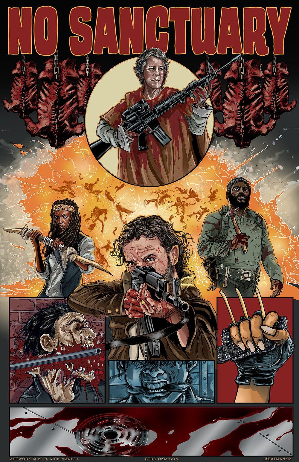 The Walking Dead Tribute Art By Kirk Manley Walking Dead Art