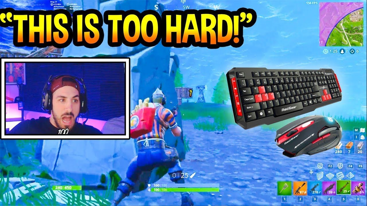 NICKMERCS Uses Keyboard & Mouse FIRST TIME! *TRIGGERED* Fortnite