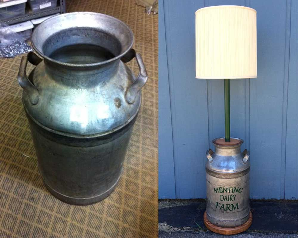 Custom Lamps Lamp Can Lights Milk Cans