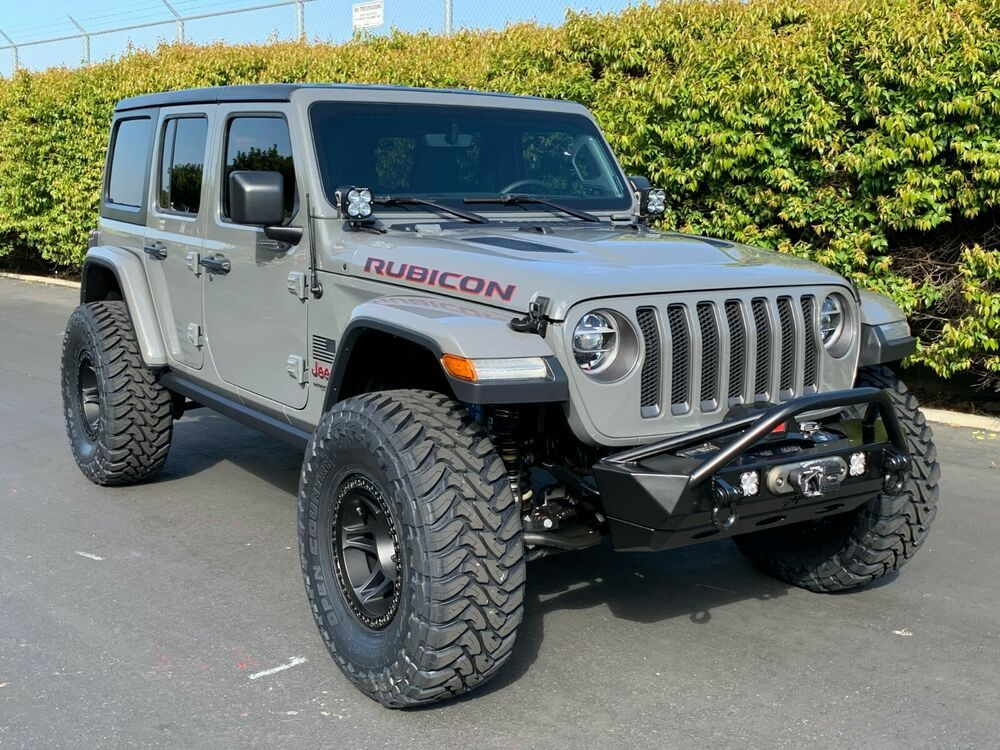 This Is A New Build In The Highly Desirable Sting Gray Color Msrp Was Over 55k Shorty Antenna Black Spline Lock Jeep Wrangler Rubicon Jeep Jeep Wrangler