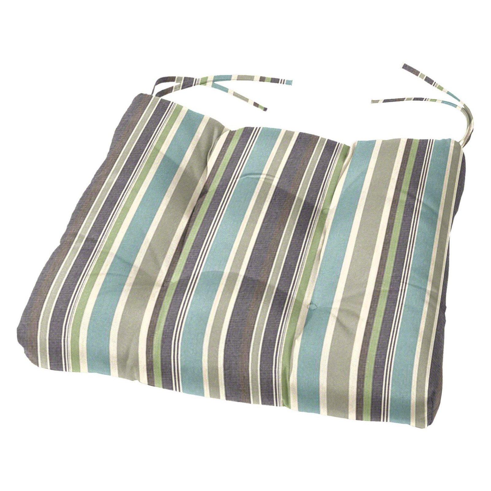 Cushion Source 19 X 18 In Striped Tufted Sunbrella Chair Cushion