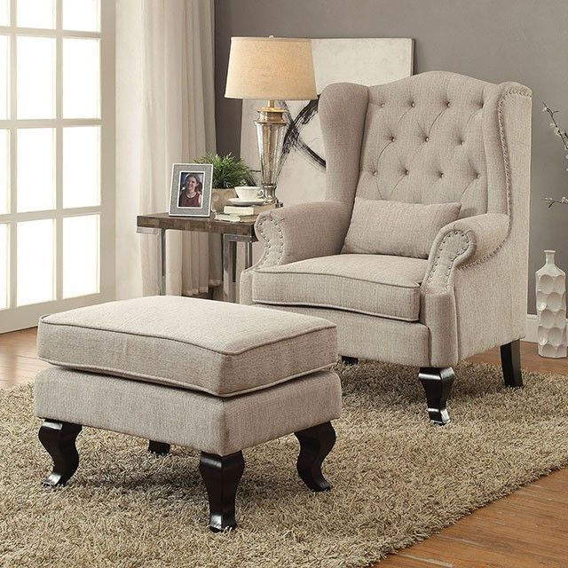Best Willow Accent Chair Cm Ac6271 Chair And Ottoman Set 400 x 300