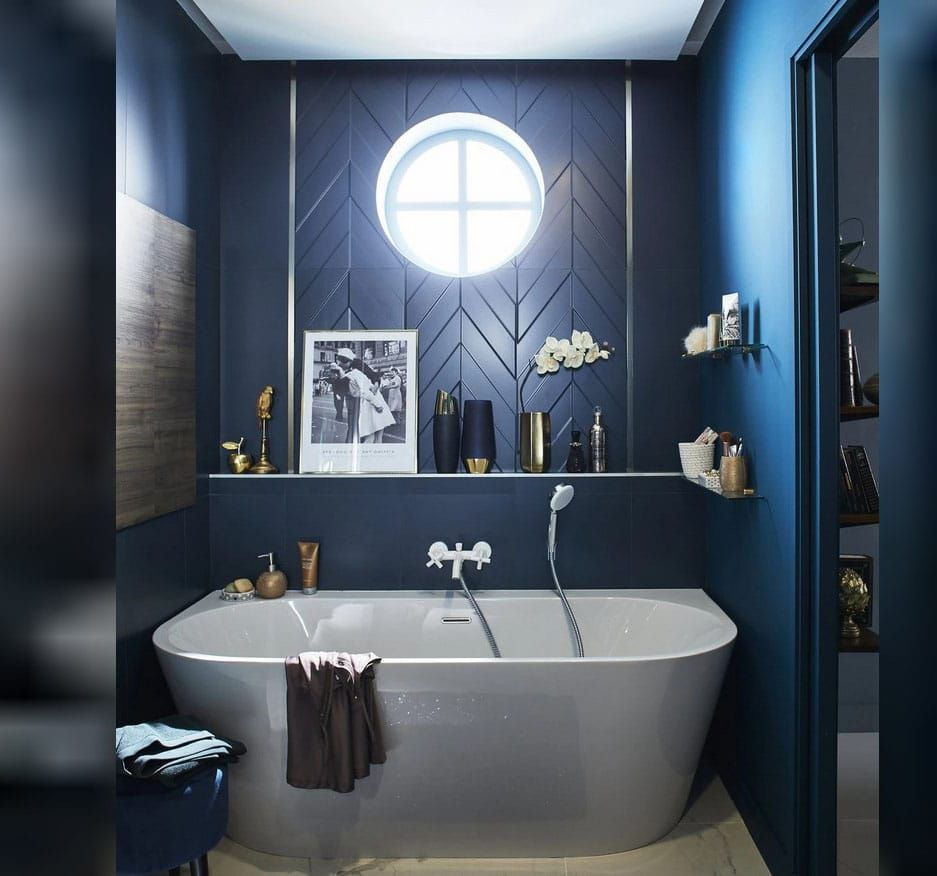 Couleur Bleu Roi En Deco Comment Bien L Associer Ctendance Fr Bleu Roi Salles De Bain Bleu Marine Couleur Bleue