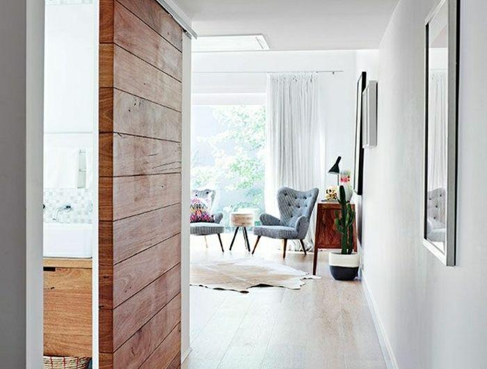 La porte coulissante en 43 variantes magnifiques diy deco brico relooking puertas - Porte interieur moderne ...