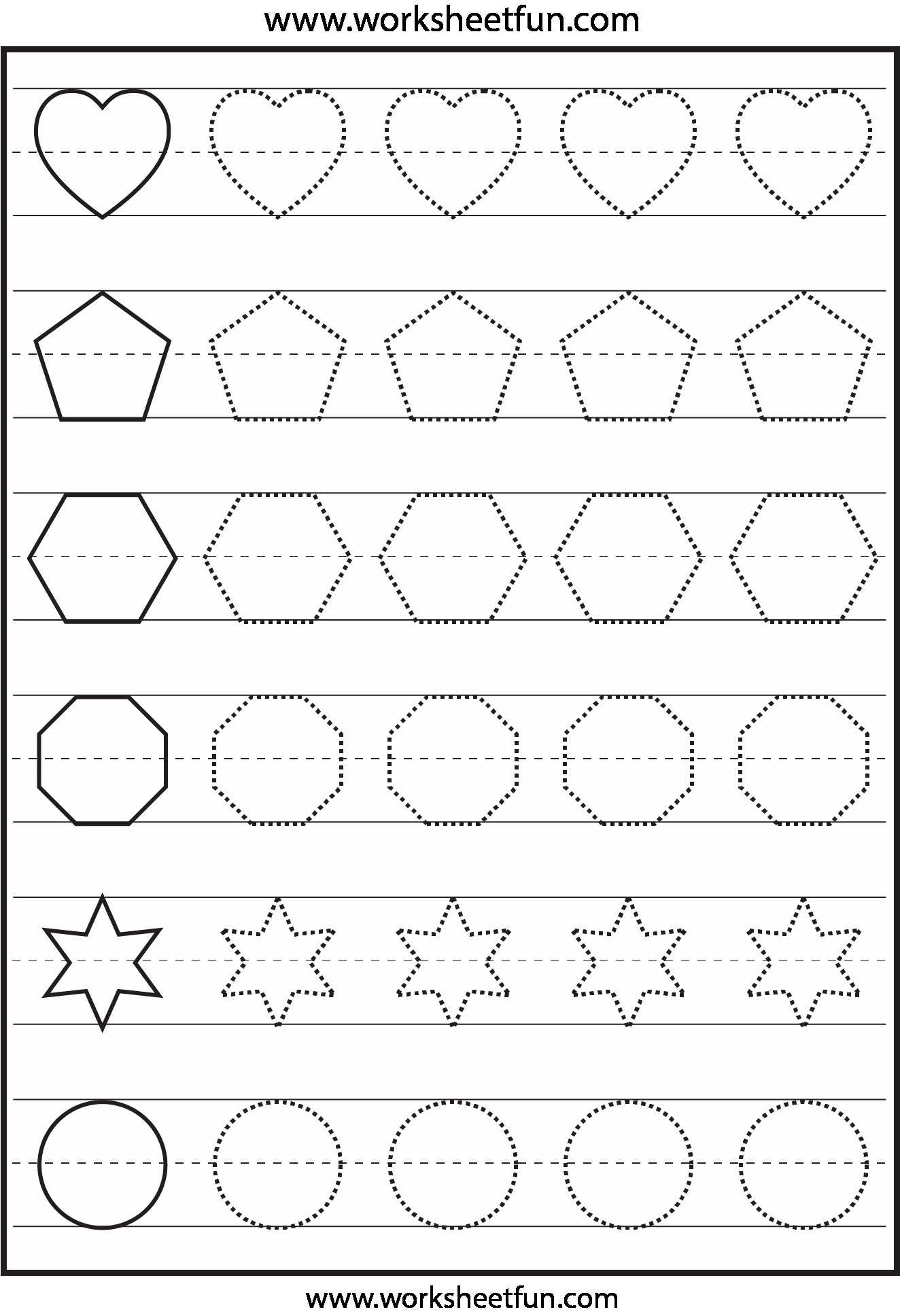 Shape Tracing Worksheets For Print Shape Tracing