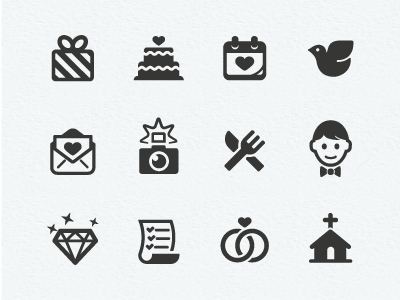 Wedding Icons | Wedding icon, Icons and Website icons