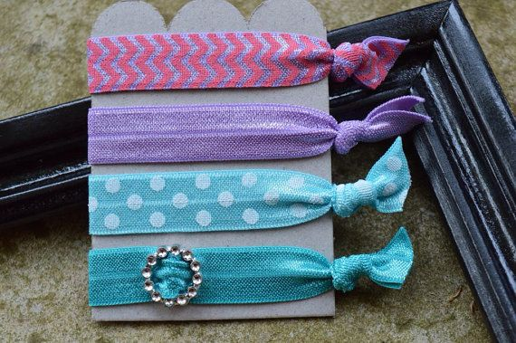 Hey, I found this really awesome Etsy listing at https://www.etsy.com/listing/186062267/elastic-no-pull-hair-ties-set-of-4-light