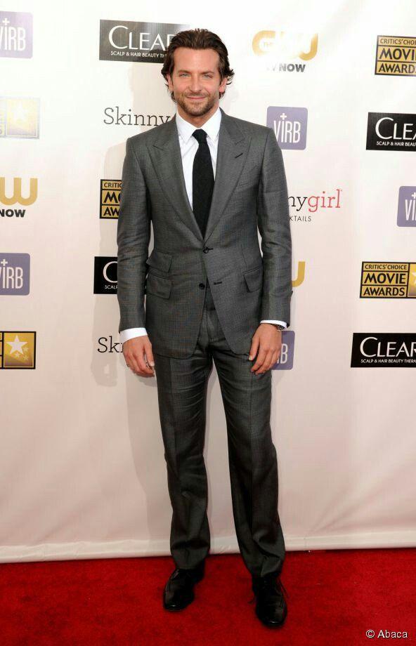 Dark gray suit, white shirt, black tie, black shoes & pink ...