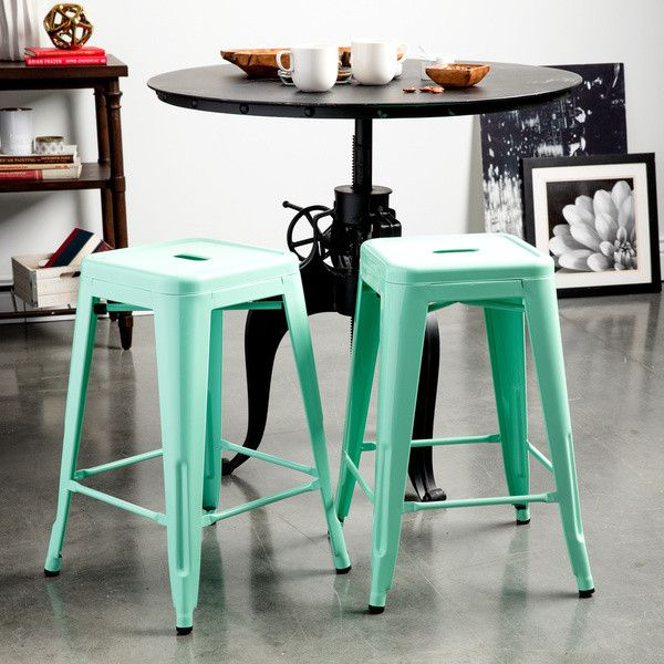 Tabouret 24 Inch Hint Of Mint Counter Stools 115 Liked On