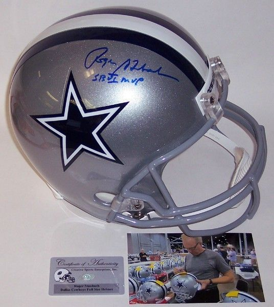 634e5483d Roger Staubach Autographed Hand Signed Dallas Cowboys Full Size Helmet -  PSA/DNA