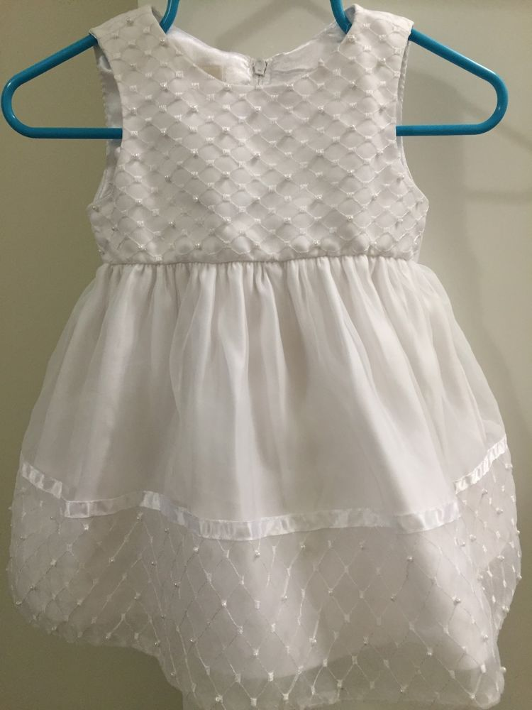 Cinderella baby girl 9 month white dress baptism
