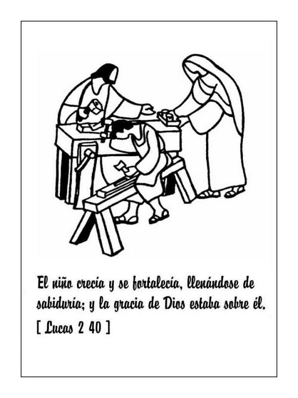 Pinto Dibujos: Jesús de niño para colorear