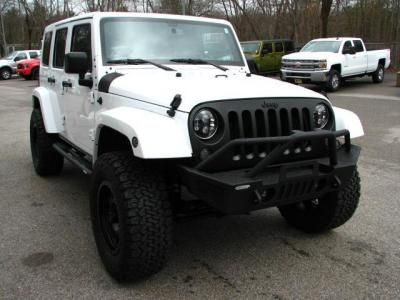 2016 Jeep Wrangler Unlimited Sahara For Sale In Medway Cars Com White Jeep Wrangler Unlimited White Jeep Jeep Sahara