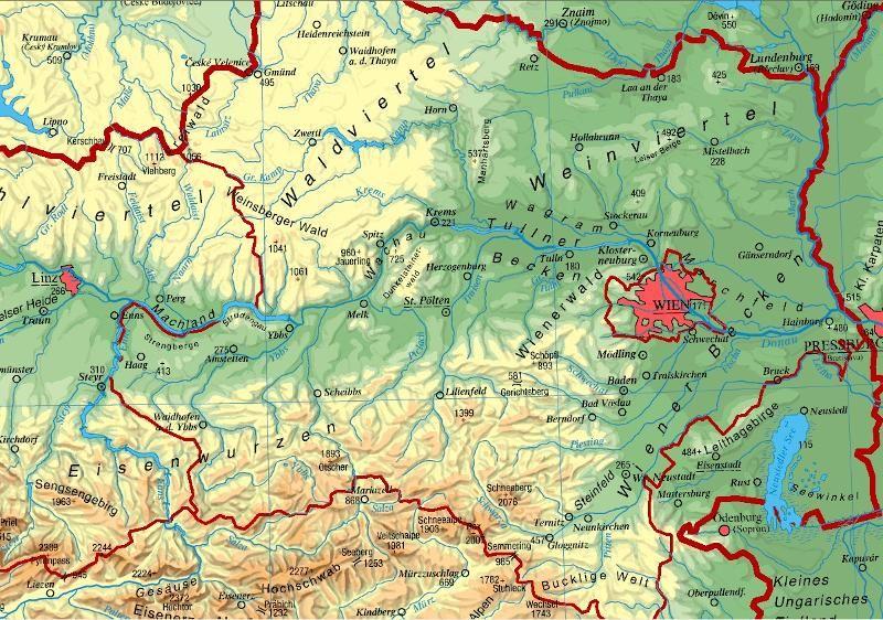 Niederosterreich Landkarte Osterreich Niederosterreich Karte