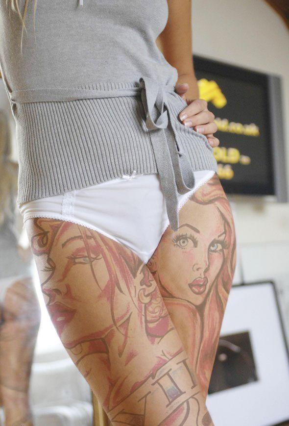 Tattoo Art 2 By Guueesswhhoo  Thigh Tattoos Women -3627