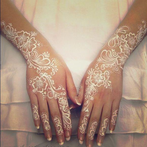 Indian Wedding Henna Tattoos: BRAND NEW 3 White National Indian Henna Tattoo BRAND NEW 3