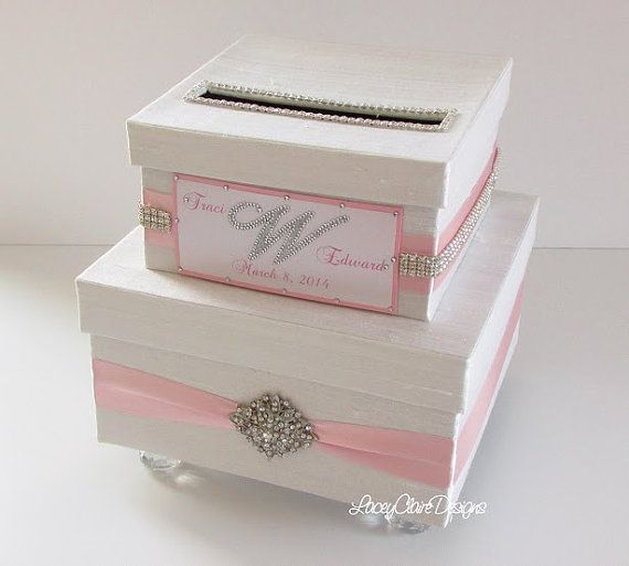 Wedding Money Box Card Holder Card Box  by LaceyClaireDesigns, $127.00