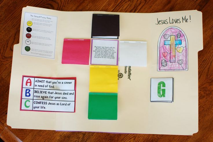 Wordless Salvation Colors shaped as a Cross. Wordless book lap book ...