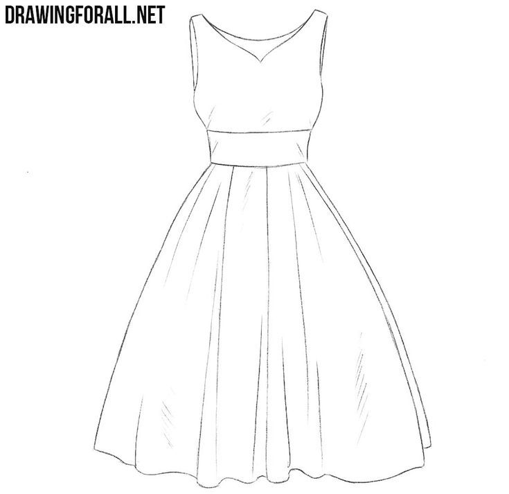 How To Draw A Dress Step By Step For Beginners Dress Design Sketches Dress Drawing Easy Fashion Drawing Dresses