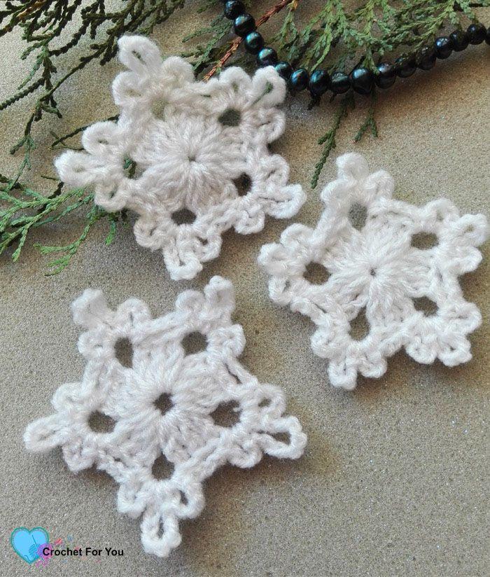 5-Minute Crochet Snowflake Free Pattern | Xmas easy gifts ...