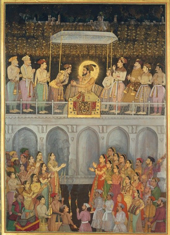 shah jahan honouring prince awrangzeb at his wedding 19 may 1637 indian paintings. Black Bedroom Furniture Sets. Home Design Ideas