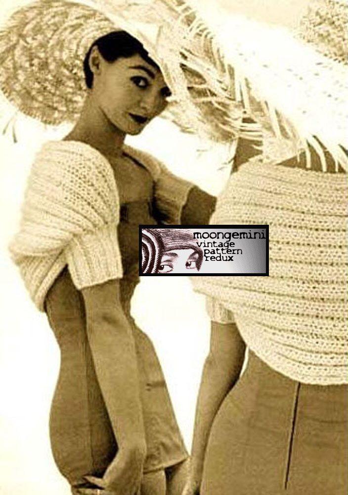 PDF Day & Night Hamaca Bolero Shrug Knitting Pattern Instant ...