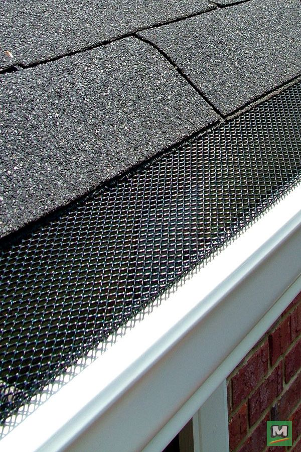 Minimize Your Outdoor Spring Cleaning Chores With A Invisaflow Metal Lock In Gutter Guard Covered In Mesh This Gutter Guar Gutters Downspout Gutter Drainage