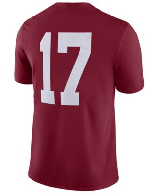 save off 99417 122ed Nike Men s Alabama Crimson Tide College Football Playoff Game Jersey - Red S