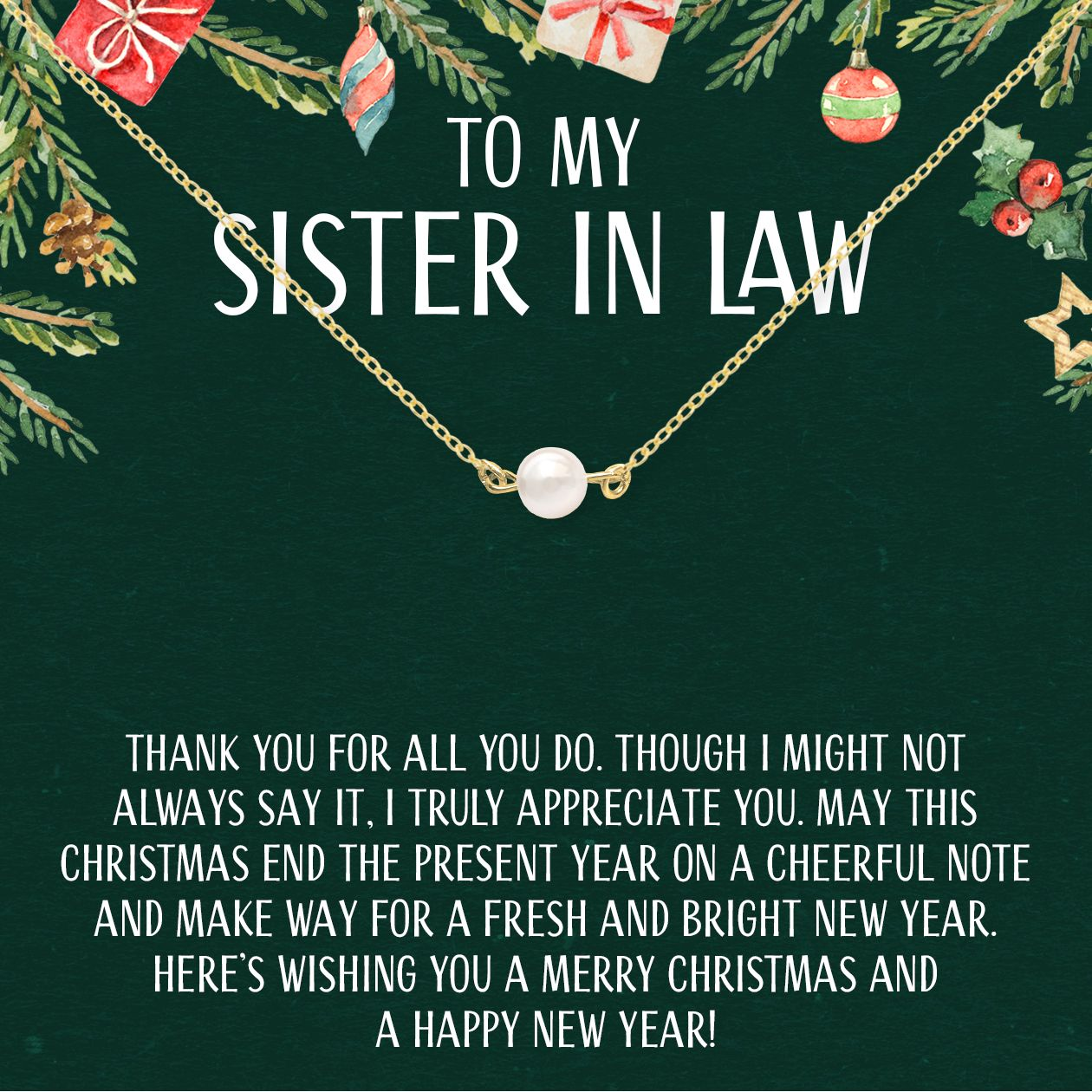 Christmas Gift For Sister In Law Pearl Necklace Christmas Gifts For Sister Sister In Law Gifts In Law Christmas Gifts