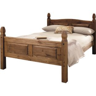 buy puerto rico double bed frame dark pine at argoscouk