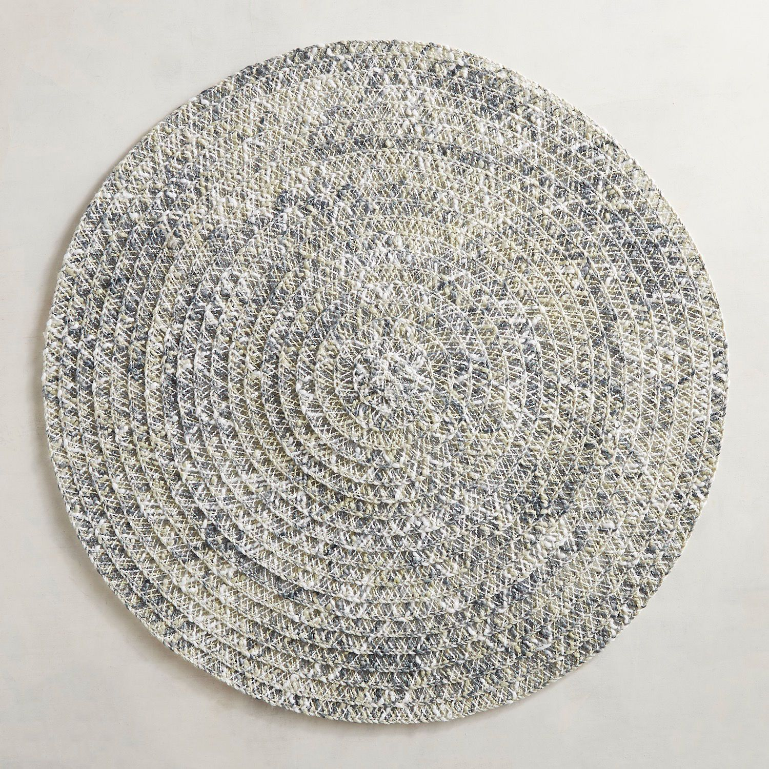 Woven Gray Blue Round Placemat Pier 1 Imports Modern Placemats Placemats Blue Gray Bedroom