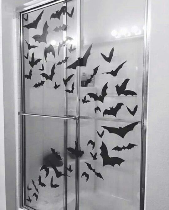 Bat Shower Decals