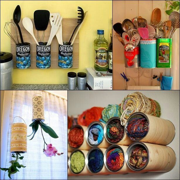 Ideas para reciclar latas Latas/Cans Pinterest Ideas para and