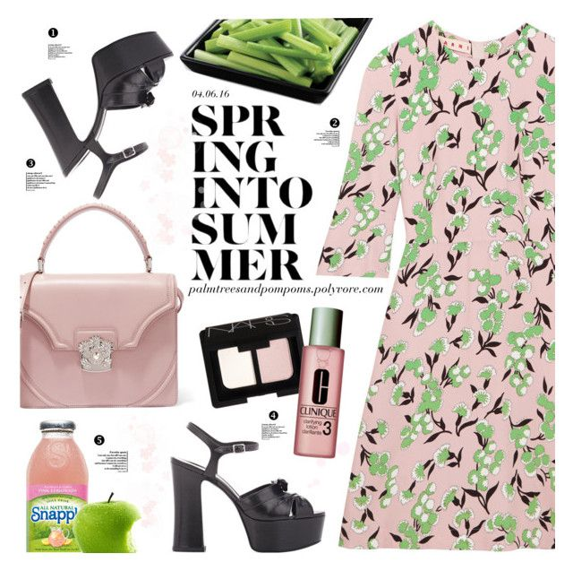 """""""04.06.16"""" by palmtreesandpompoms ❤ liked on Polyvore featuring Marni, Yves Saint Laurent, Alexander McQueen, NARS Cosmetics and Clinique"""