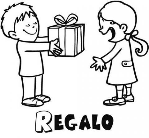 Dibujos infantiles de regalos para niños. Dibujos de cumpleaños ...