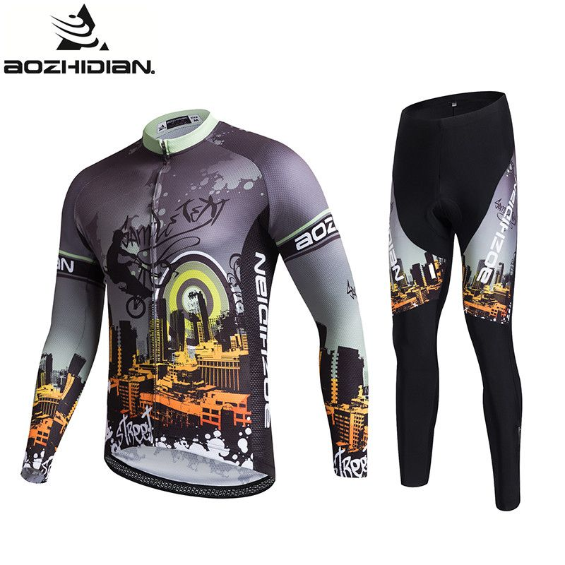6b9e484f 2017 AZD16 Men Long Sleeve Cycling Jersey Pro Team Maillot Ropa Ciclismo  Mujer Summer MTB Quick Dry Cycling Jersey Sets