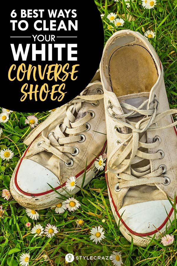 How To Clean White Converse Shoes In 6 Best Ways White Converse Shoes How To Clean White Converse Converse