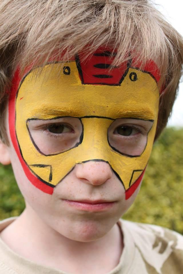 The Face Store Nottingham Face Painter Superhero Face Painting Iron Man Face Paint Kids Face Paint