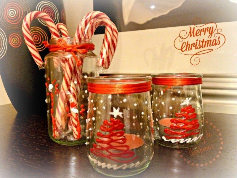 Porta velas conjunto navidad pinterest porta velas - Porta velas navidenas ...