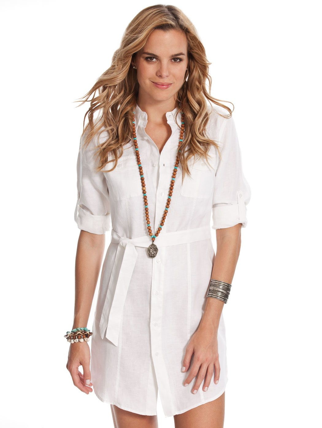 c7ffb697badc4 White Linen Shirt Dress