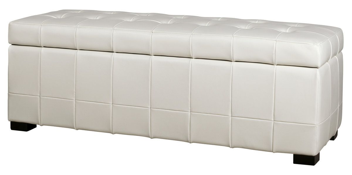 Celeste Leather Bench - White | Ottomans And Benches | Living Room | Furniture | Products | Urban Barn