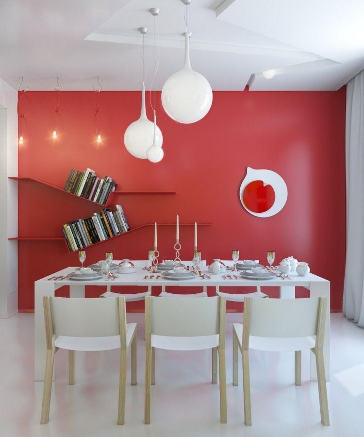 Déco murale originale dans la salle à manger en 24 idées curieuses ...