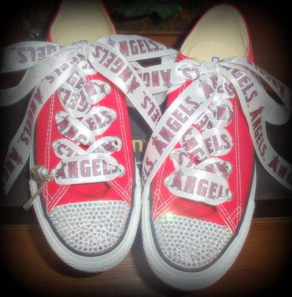 3ac6ada131766 Kentuckiana Bling Los Angeles Angels of Anaheim Converse- | Ellie <3 ...
