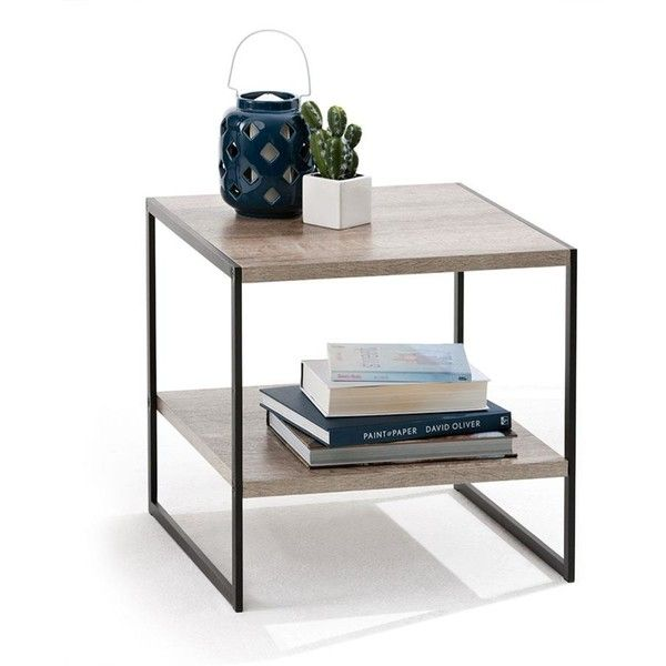 Industrial Side Table Kmart 23 Liked On Polyvore Featuring Home Furniture Tabl Coffee Table Design Modern Coffee Table